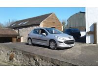 Good condition Sliver Peugeot 207 1.4 HDI 5 Dr Diesel cheap road tax Low Mileage
