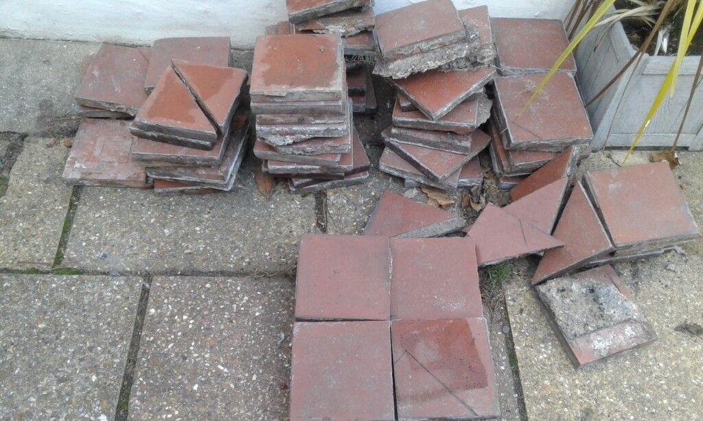 Old, red quarry tiles 6x6×1 inches | in Enfield, London | Gumtree