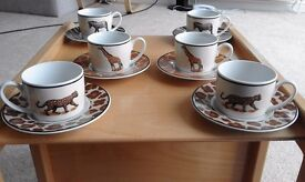 Coffee cups & saucers set