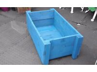 Handmade, hand painted garden planters, various sizes