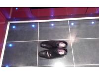 Mens Italian black leather shoes,size10,in ex cond,only £5,possible local delivery