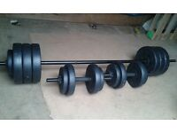 Barbells and dumbell brand new