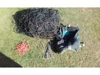 Full size football net with pegs, clips and bag - ideal for training