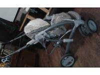 Graco 3 in 1 pushchair, car seat, pram set