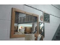 Large pine framed mirror lovely condition 36.00
