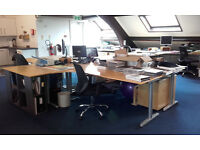 Office Closing Sale - Desks, Drawers, Chairs, Shelving all must go.
