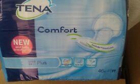 Tena plus comfort fit pads