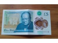 NEW £5 NOTE AA