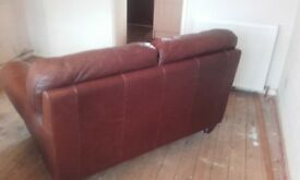leather 2 seat sofa leather armchair