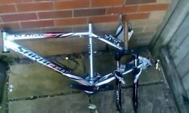 Saracen bike frame and wheels