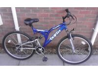Gents / Teenagers Trojan Warrior Dual Suspension Mountain Bike Bicycle