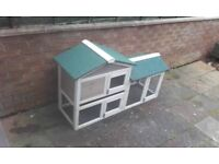 Rabbit hutch chicken coop with rain cover £40
