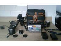 Sony camcorder with accessories bundle