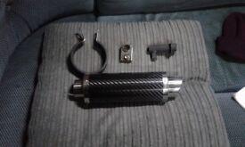 Moto gp carbon fibre exhaust for honda hornet 03 to 06