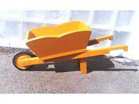 Handcrafted Ochre Wheelbarrow Planter