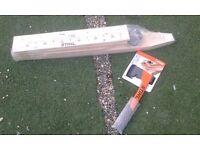 Stihl Polyamide Axe & Wooden Firewood Sawhorse Set