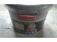 BRAND NEW 3.75KG TUB OF GREY UNIBOND FLOOR GROUT WITH ANTI MOULD