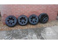 black alloys &tyres