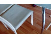 Glass dinning table with 4 chairs set
