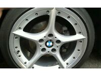 "GENUINE BMW BBS Split Rim Staggered 18"" Alloy Wheels and Tyres"