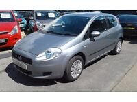 2006/06 FIAT GRANDE PUNTO 1.4 DYNAMIC 3 DOOR HATCH,GREAT CONDITION AND ECONOMY,LOOKS + DRIVES WELL