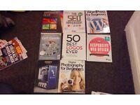 Computer magazines Computer Active, Micro Mart + Web Design books, SEO, Responsive, Wordpress etc