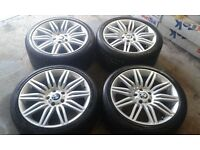 SET GENUINE BMW E60 5 SERIES SPIDER 172M M SPORT ALLOY WHEELS AND TIRES
