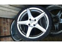 4 stud low profile wheels with tyres