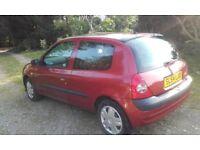 2004 Renault Clio. 3 Door 1.2 petrol. 75357 miles