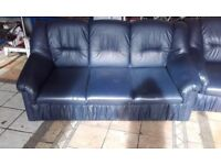 3+1 seat blue sofa