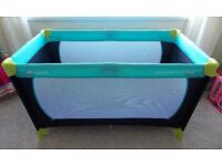 'Hauck' Travel Cot/Playpen in excellent condition Occasional use at Grandparents