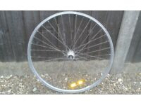 One good rear 26inch aluminium rim wheel for Mountain Bike no rear cog tyre or inner tube