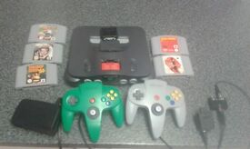 Snes n64 game cube bundle official leads and 2 controllers each + games