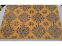 15 UNUSED /NEW Vintage Orange Ceramic Retro/70s H&R Johnson Wall Tiles.