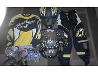 yellow alpinesport mx suit £40 ideal for a 6/9 year old
