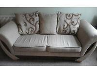 Pair of Settees / Sofa's living room Suite Foam Block Cushions material