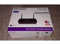 Netgear ADSL2+ broadband Router D6000 dual band Gygabit 4 months use