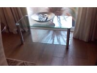 oblong glass coffee table can be used for hi fi or tv table