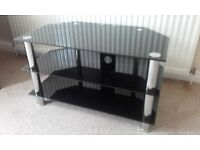 Black and Silver Three Tier LCD TV Stand ( Suitable for up to 40 inch )