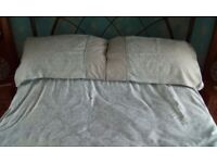 2 kingsize duvet covers 4 pillowcases 2 cushion covers and large quilted bedspread.