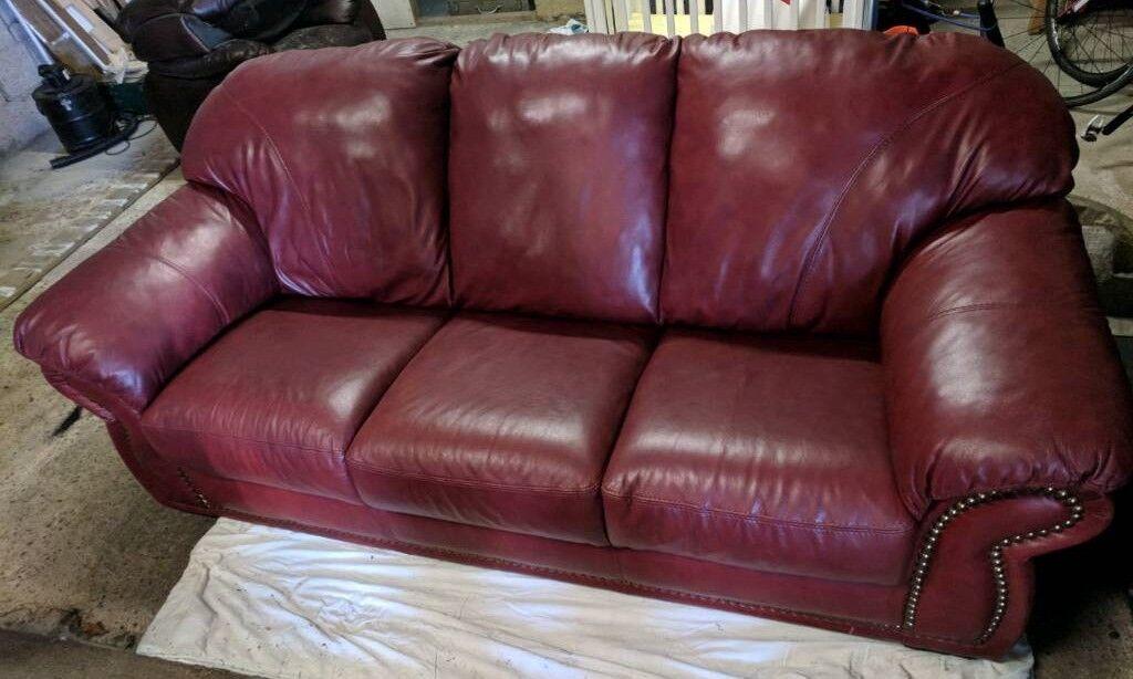 Chateau D Ax Italian Leather 3 Seater Sofa In Coalisland County