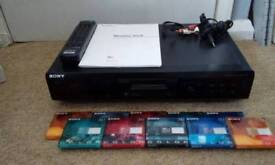 Sony Minidisc player inc. with Remote control and Pack of 10 New Disc.
