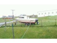 Fletcher vigo cabin cruiser boat 19ft