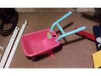 Girls Pink Wheel Barrel From Early Learning