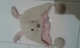 Girls rabbit winter hat, Next, 3-6 yrs, excellent condition.