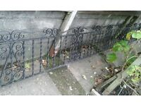 wrought iron wall panel 15ft 9ins x 21ins high