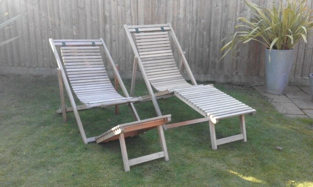 Plantation Teak Garden Sun Loungers/Reclining Chairs ...