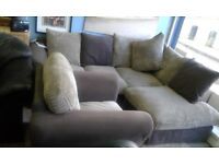NEW SCS CORNER SOFA+CUDDLER CHAIR CAN DELIVER FREE