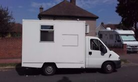 Fiat ducato van ready for conversion to a catering truck