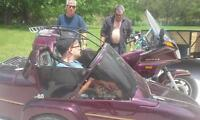 vintage gold wing with california sidecar